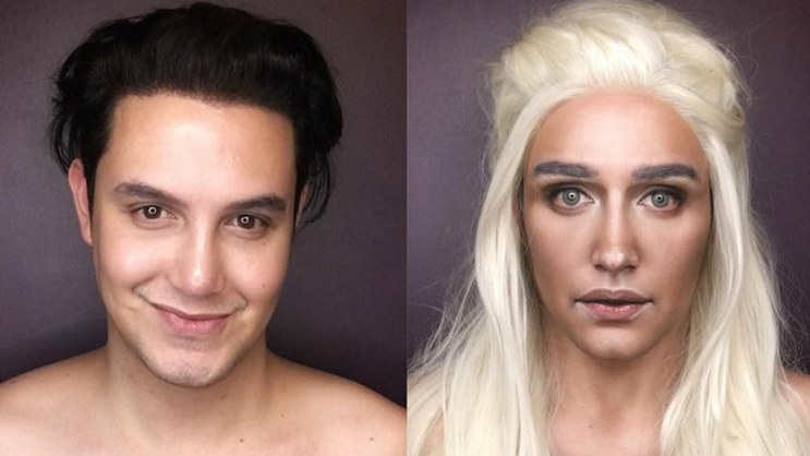 Man's makeup transformation to female Game of Thrones ...