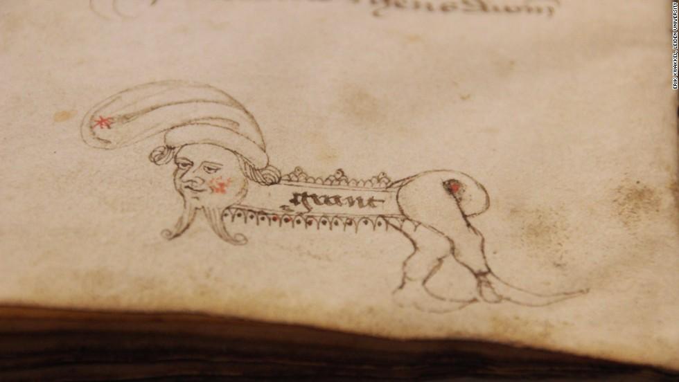 weird hybris creature medieval doodle