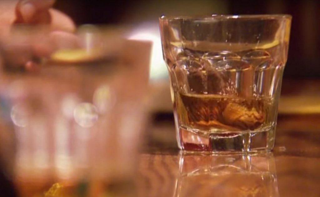 Whiskey Sourtoe cocktail