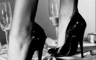 drinking from women's shoes- champagne