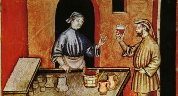 Medieval Advertising wine